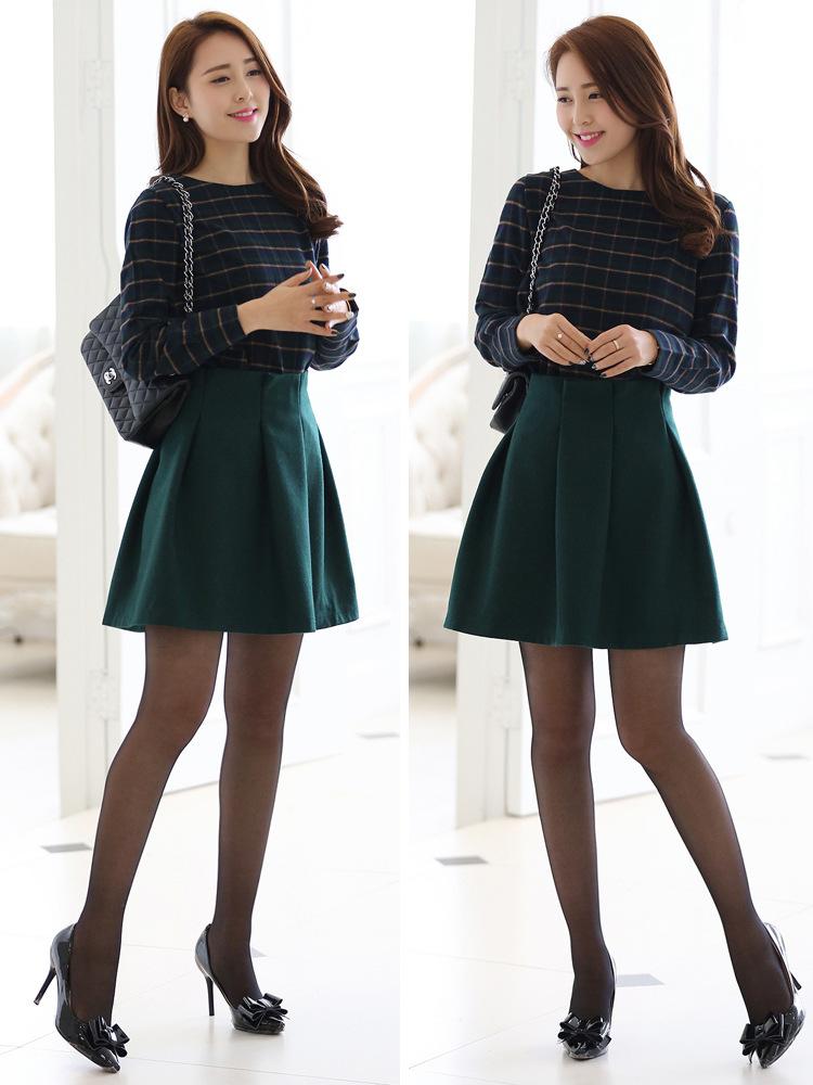 2014韩版爆款套装 品牌长袖春装热卖 新款连衣裙B321图片二