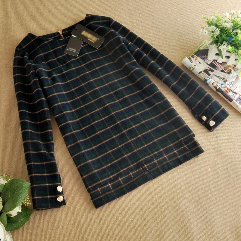 2014韩版爆款套装 品牌长袖春装热卖 新款连衣裙B321图片四
