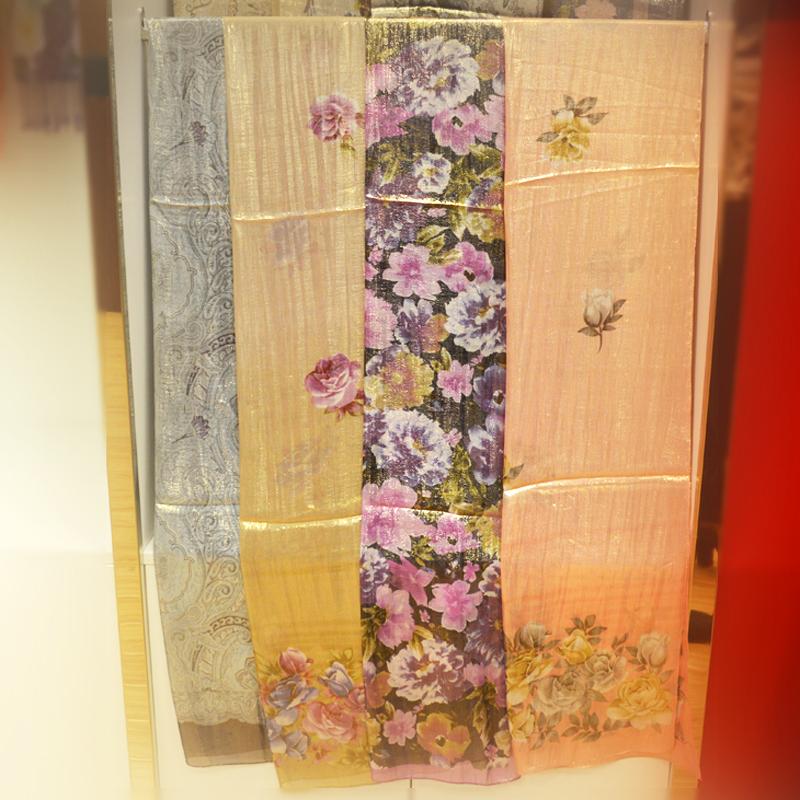 披肩、围巾、蚕丝、时尚印花图片三