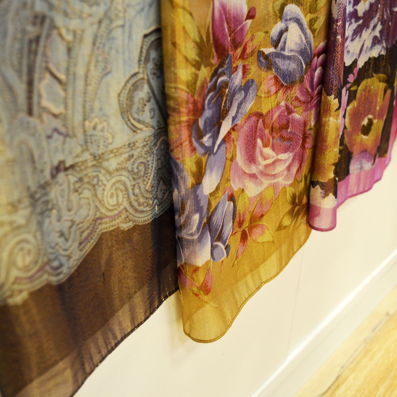 披肩、围巾、蚕丝、时尚印花图片五