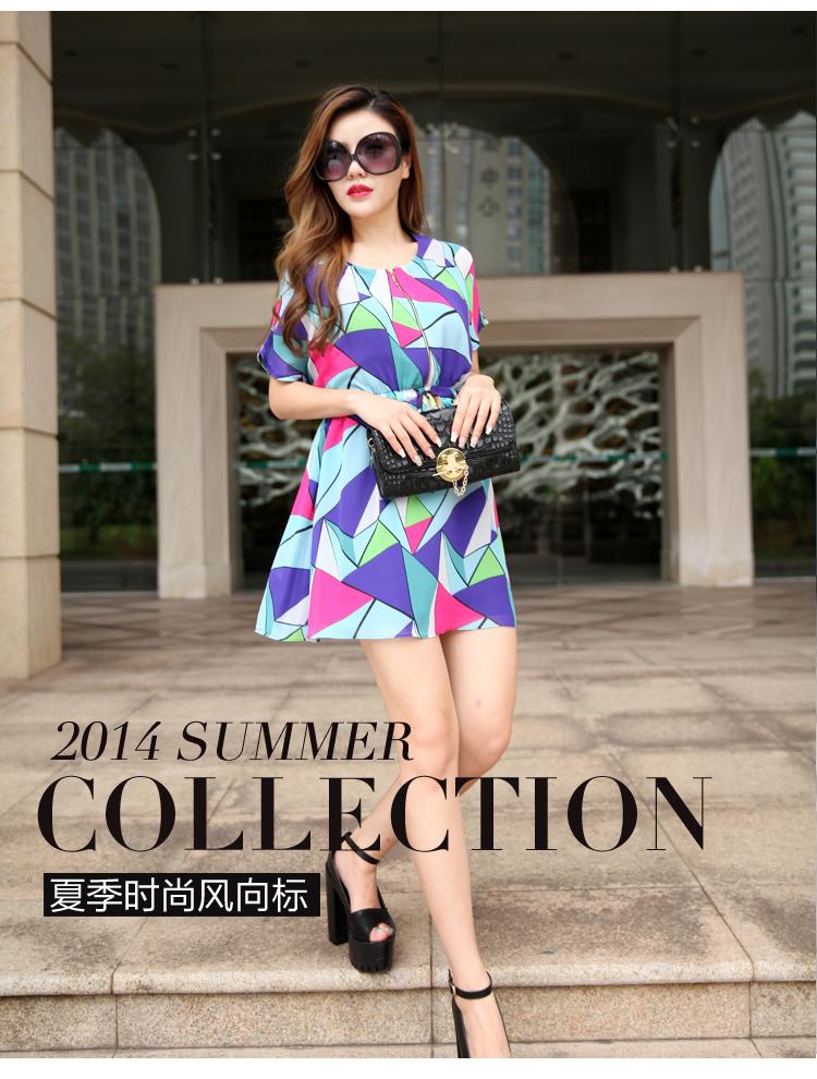 爆款专柜直销 2014原创欧美风修身  品牌连衣裙A397图片一