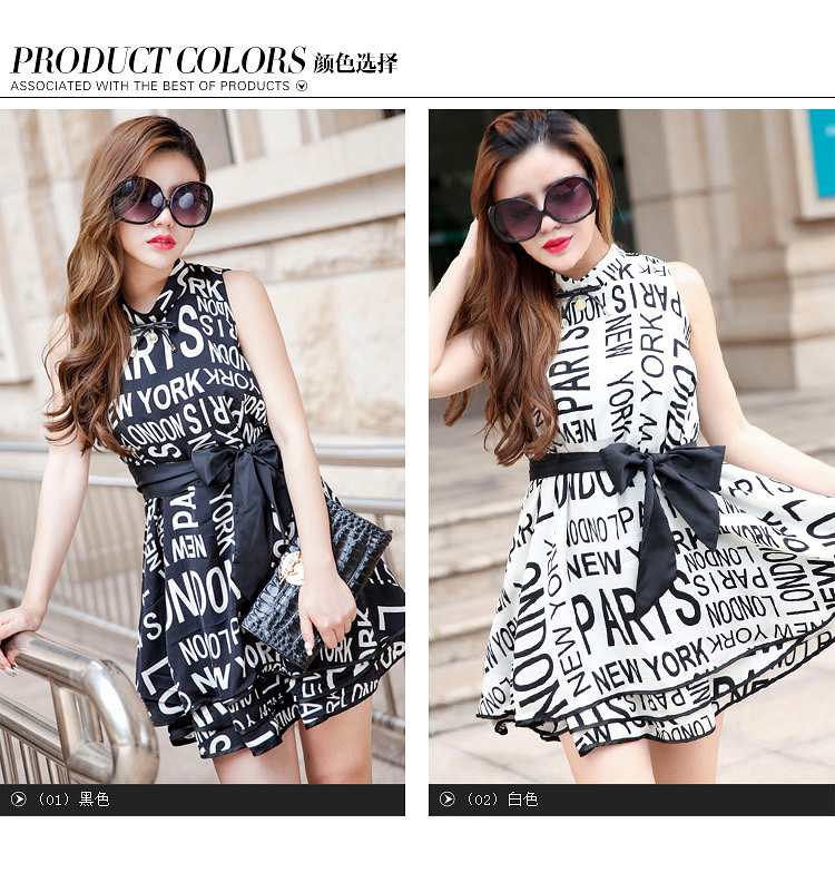 厂家热销欧美夏季原创时尚女装新款印花 品牌连衣裙A389图片五