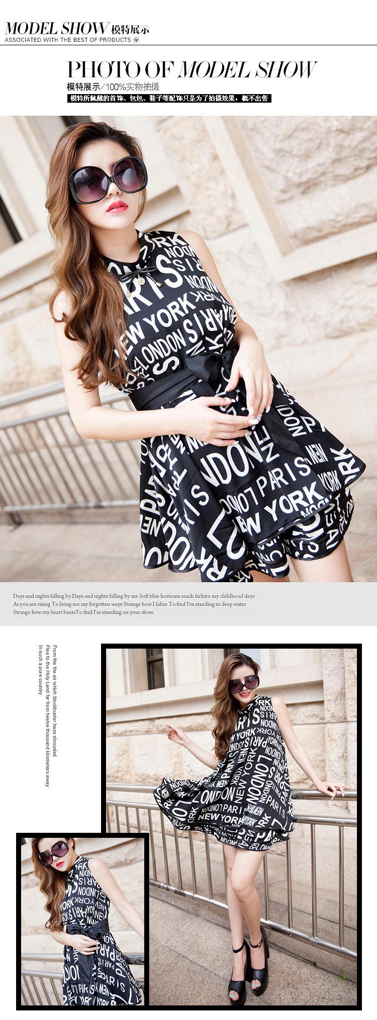 厂家热销欧美夏季原创时尚女装新款印花 品牌连衣裙A389图片六