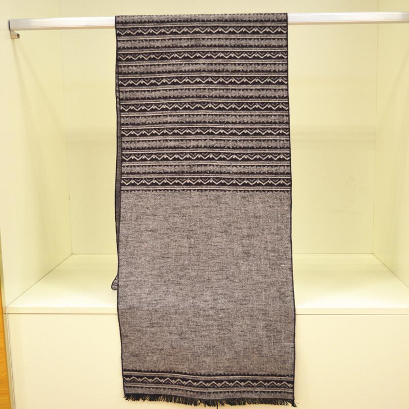 桑蚕丝男士加绒围巾图片二