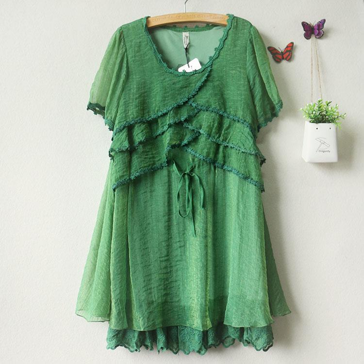 夏装 新品女装 时尚短袖雪纺连衣裙 厂价直销图片七
