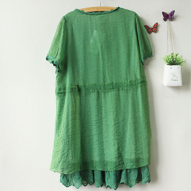 夏装 新品女装 时尚短袖雪纺连衣裙 厂价直销图片八