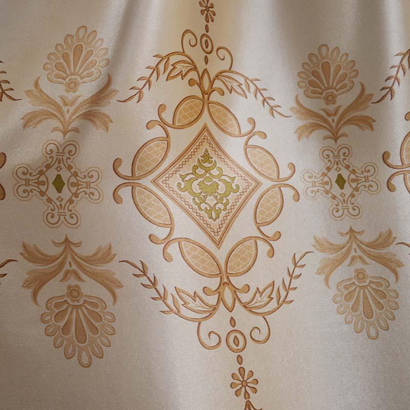 绣花窗帘布艺