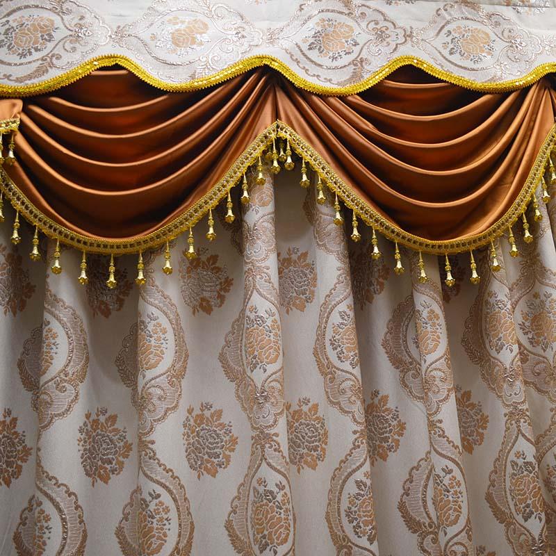 绣花布窗帘布艺