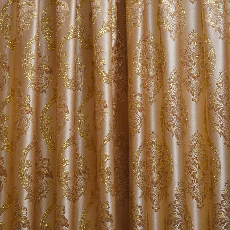 金丝绣花布窗帘布艺