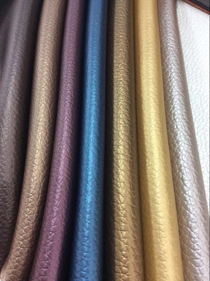 PVC人造革汽车革沙发座椅装饰家居合成革荔枝纹图片二