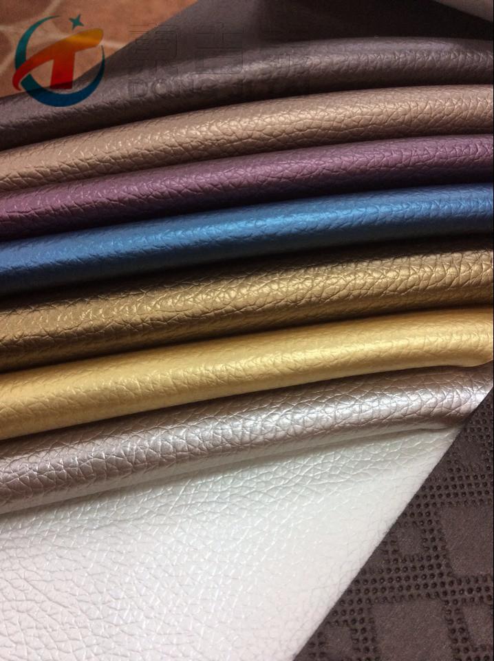 厂家直销PVC人造革汽车革沙发座椅家居装饰荔枝纹图片二