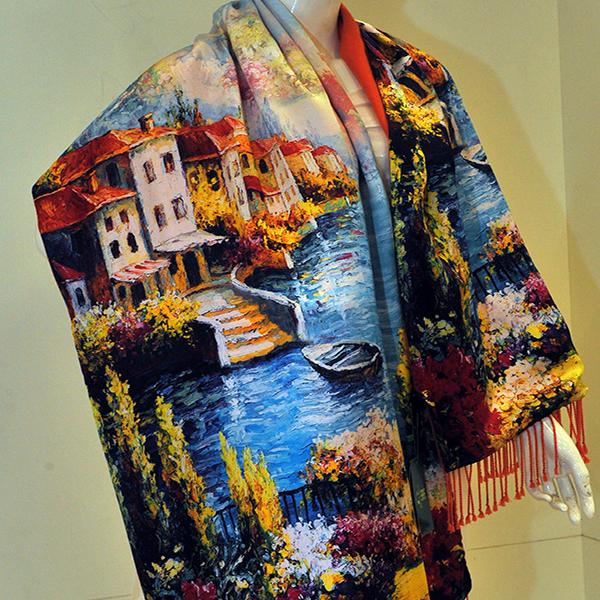 新款披肩式加绒围巾新款上市图片三