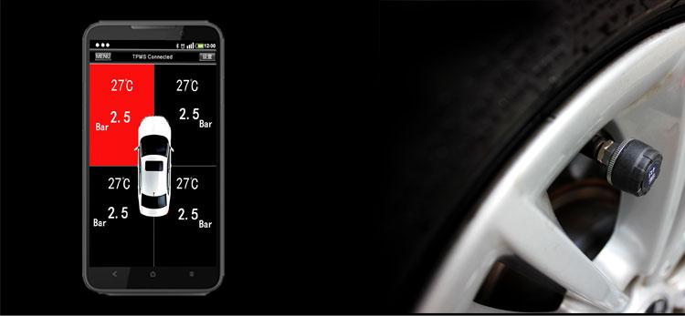 全网首款胎压监测手机蓝牙互联四轮胎压监测图片二