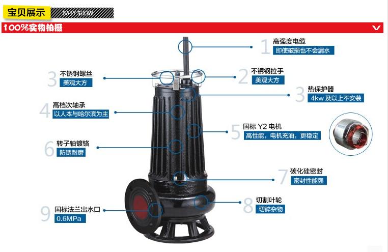 5.5KW切割式排污泵图片一