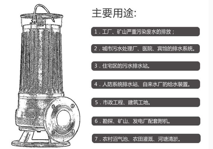 5.5KW切割式排污泵图片二