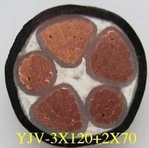 国标电力电缆YJV3*120+2*70图片一