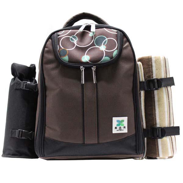 新款4人份野餐包 保温保鲜背包 双肩背包图片一