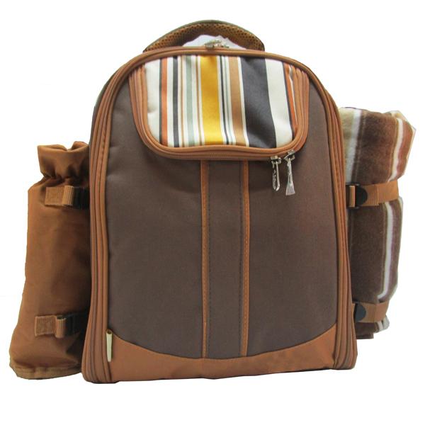 新款4人份野餐包 保温保鲜背包 双肩背包图片二