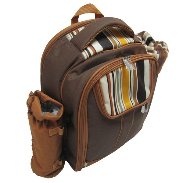 新款4人份野餐包 保温保鲜背包 双肩背包图片三