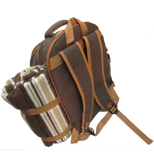 新款4人份野餐包 保温保鲜背包 双肩背包图片四