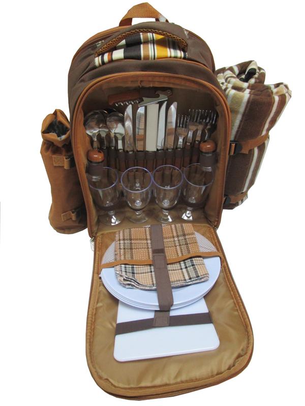 新款4人份野餐包 保温保鲜背包 双肩背包图片七