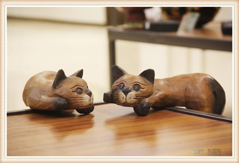 泰国 复古居家装饰品招财懒猫  0201351图片四