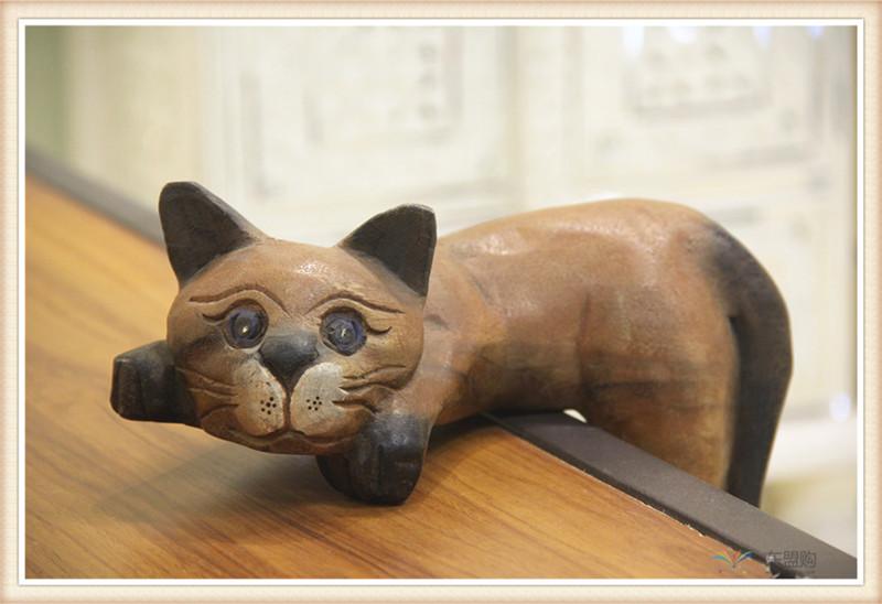 泰国 复古居家装饰品招财懒猫  0201351图片三