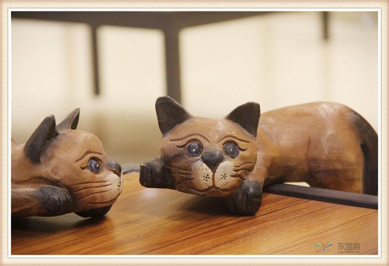 泰国 复古居家装饰品招财懒猫  0201351图片六