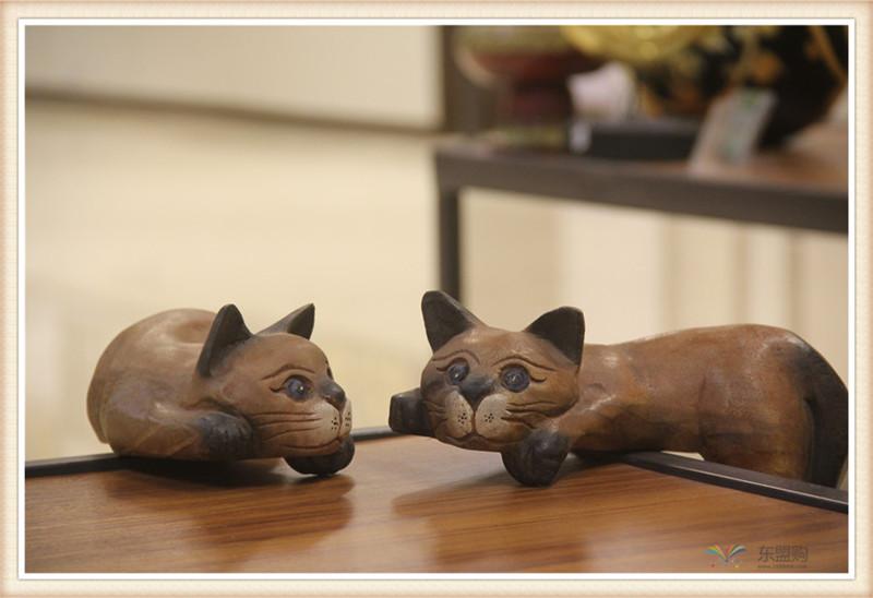 泰国 复古居家装饰品招财懒猫  0201351图片五