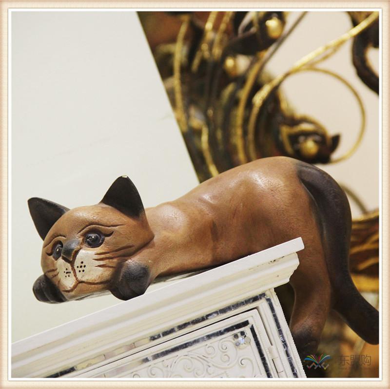 泰国 复古居家装饰品招财懒猫  0201351图片八
