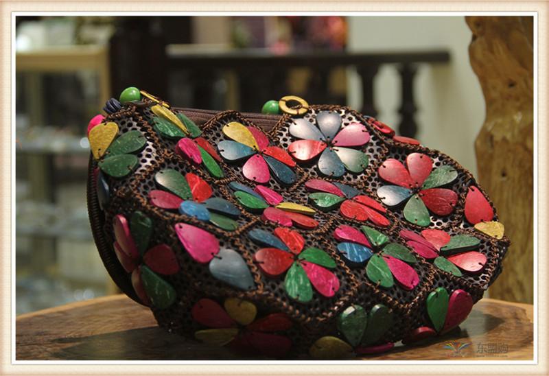 泰国 复古手提包单肩包 0203715图片十
