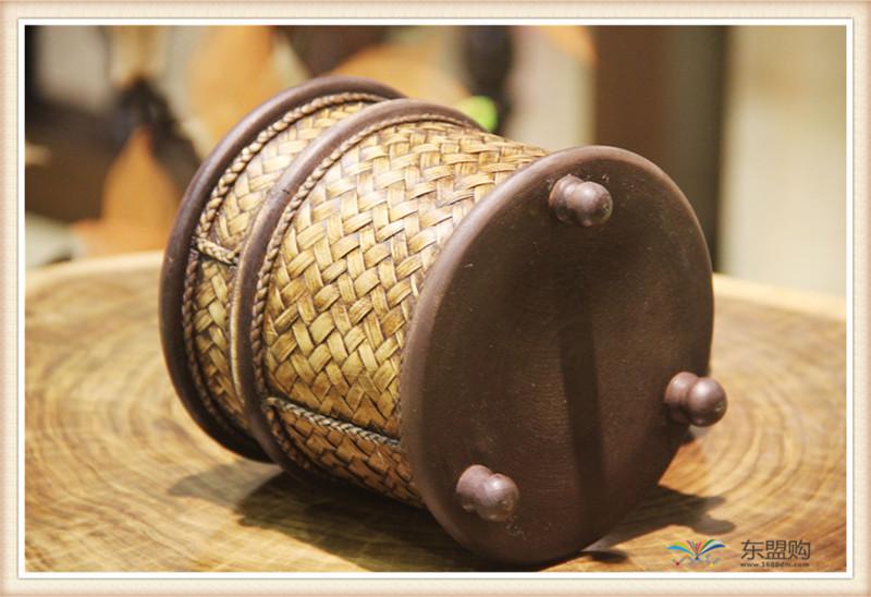 泰国 圆形竹编纸筒 0202648图片五