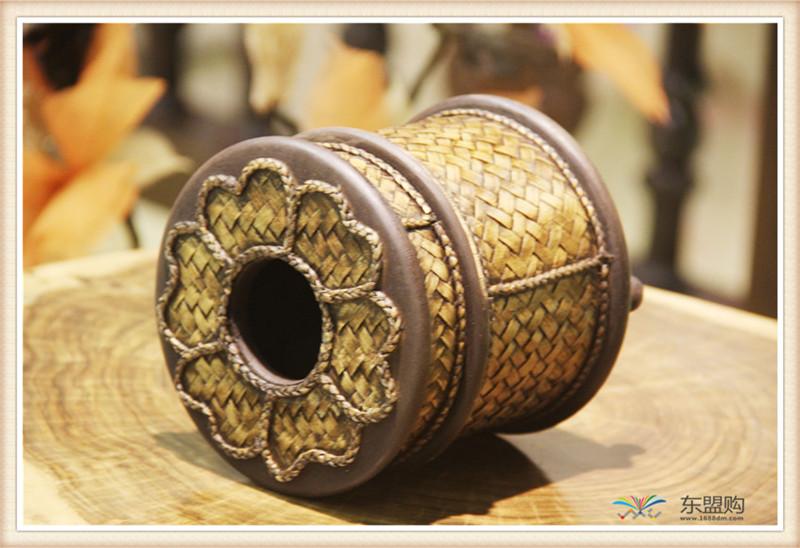 泰国 圆形竹编纸筒 0202648图片六