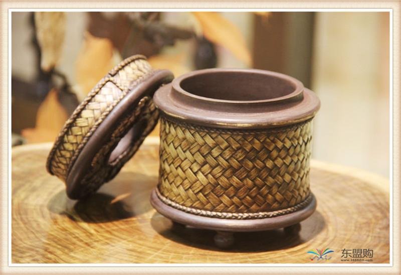 泰国 圆形竹编纸筒 0202648图片七