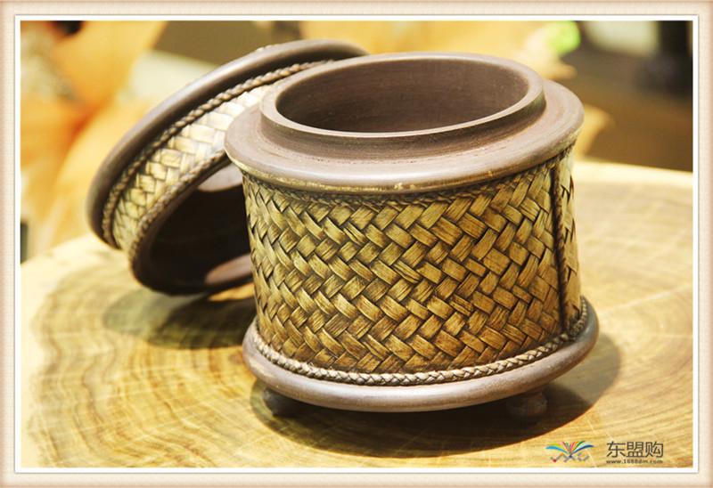 泰国 圆形竹编纸筒 0202648图片九