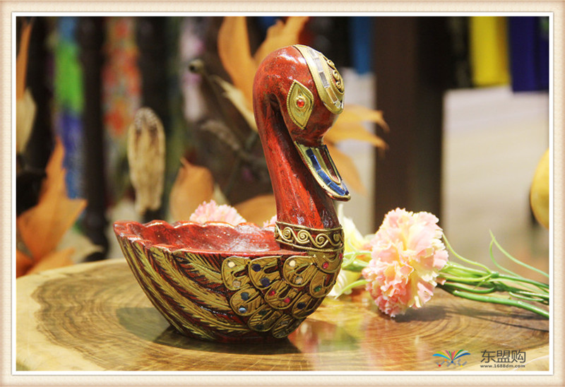 泰国 小鸭子漆器水果篮 0203101图片三