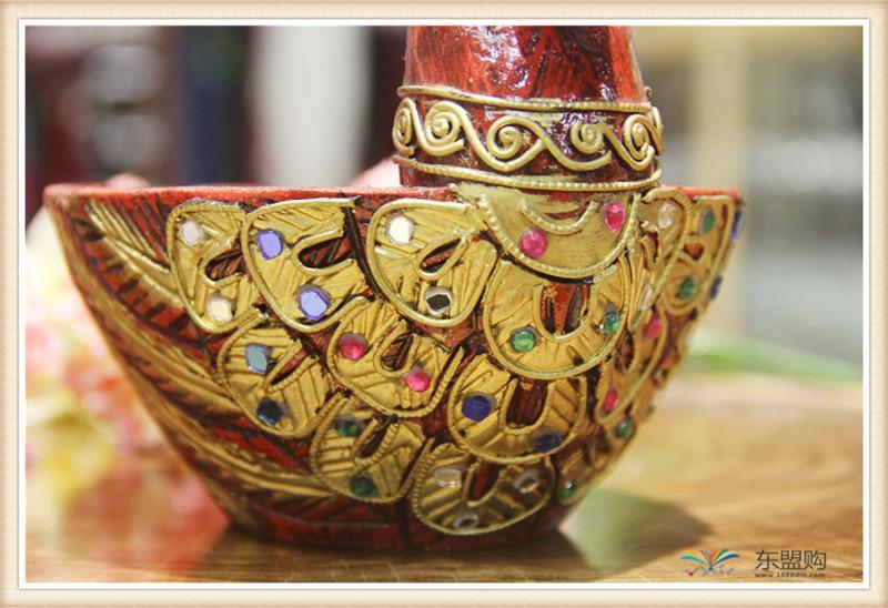 泰国 小鸭子漆器水果篮 0203101图片六