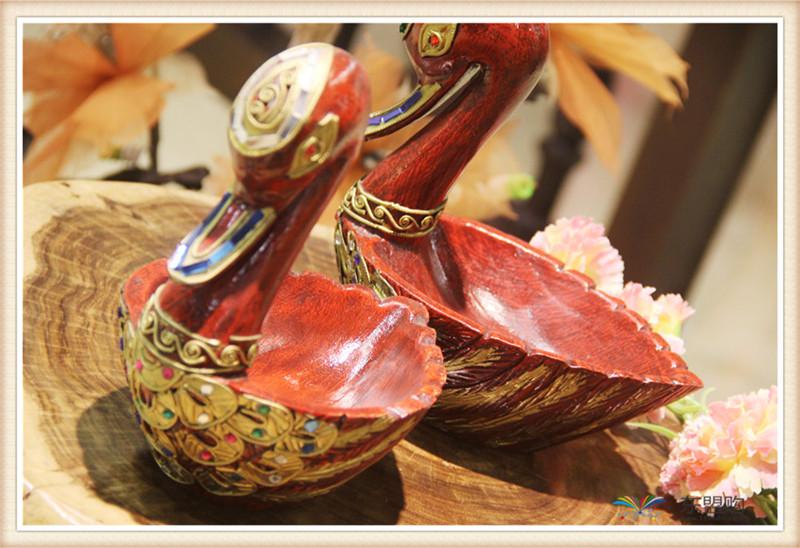 泰国 小鸭子漆器水果篮 0203101图片九