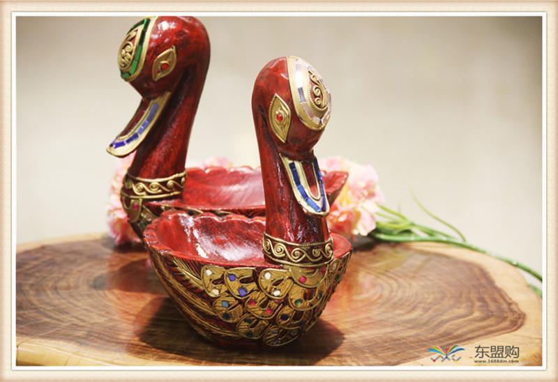 泰国 小鸭子漆器水果篮 0203101图片八