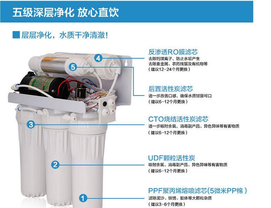 华迈净水 家用纯水机反渗透机HM-RO-A图片一