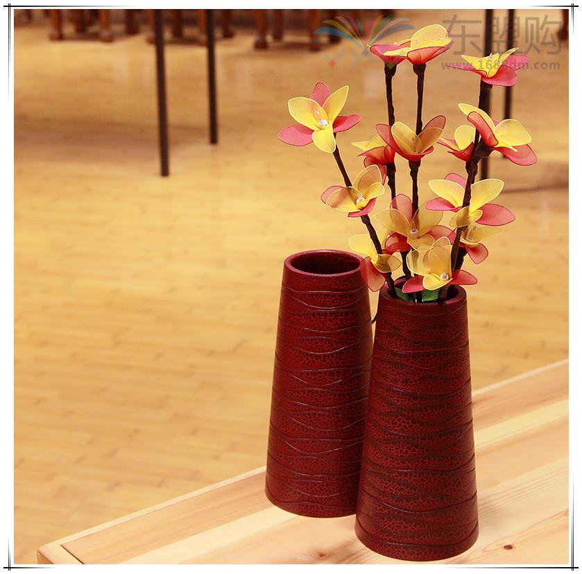 泰国 创意木质花瓶 0203200图片十