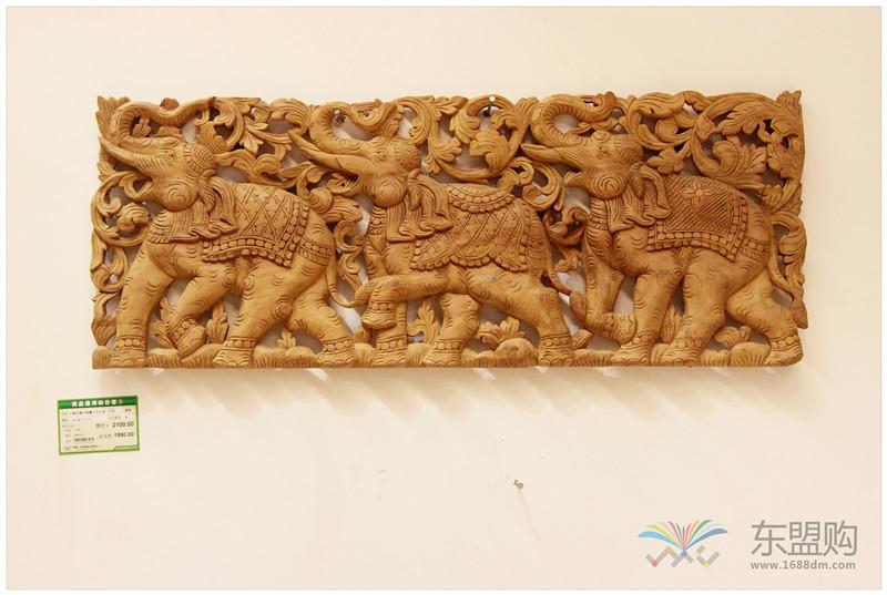 泰国 大柚木镂空板长方形雕片 0203132图片二