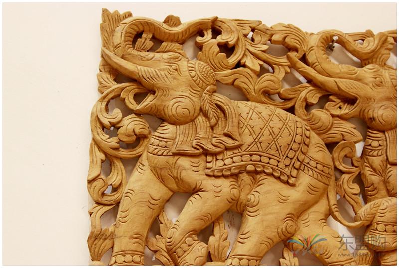 泰国 大柚木镂空板长方形雕片 0203132图片四