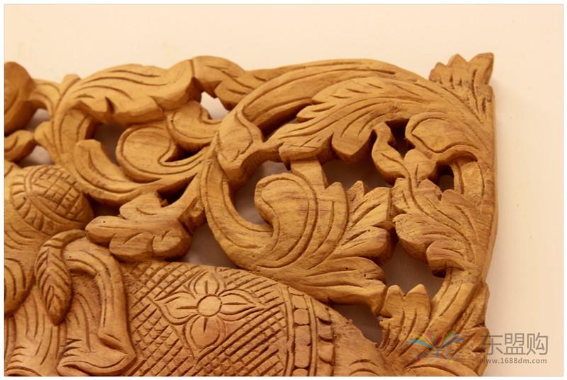泰国 大柚木镂空板长方形雕片 0203132图片六