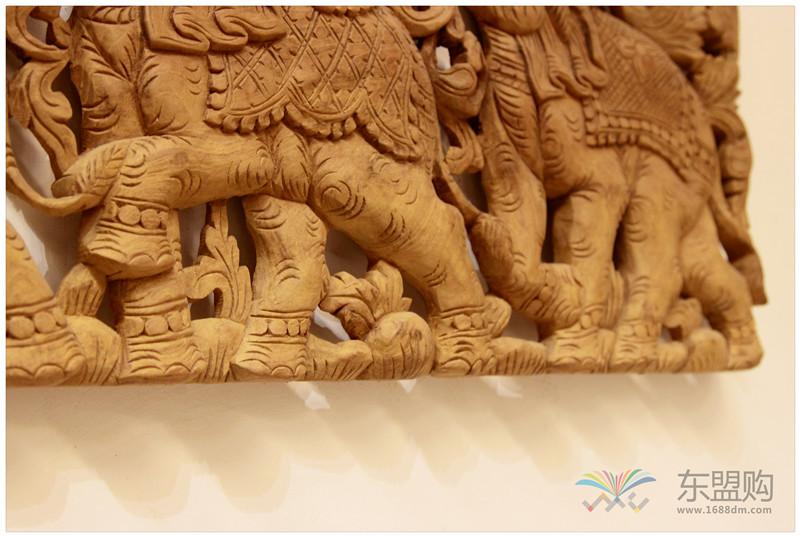 泰国 大柚木镂空板长方形雕片 0203132图片五