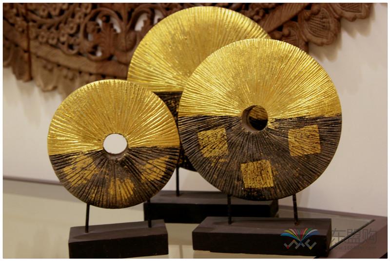泰国 金箔摆件套装 三件套 0202736图片三