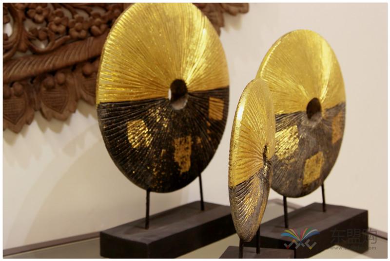 泰国 金箔摆件套装 三件套 0202736图片七