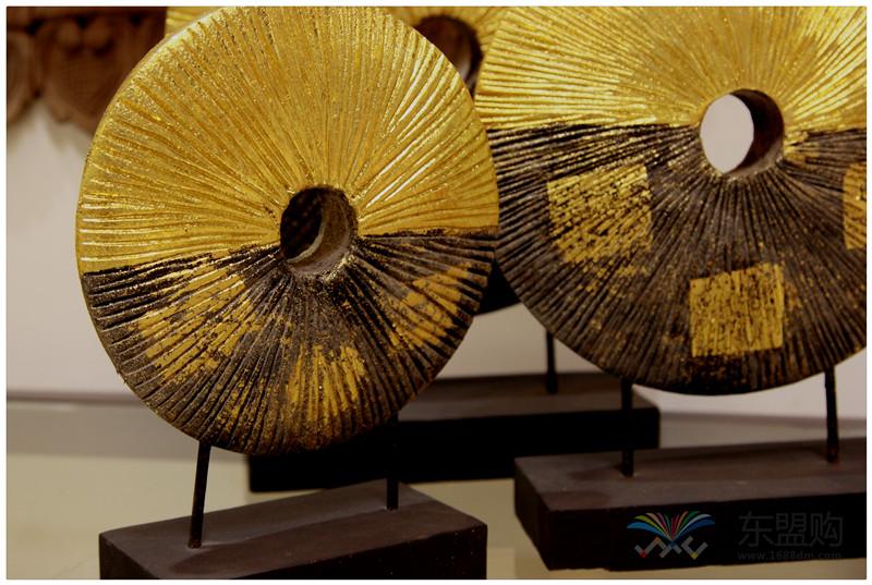 泰国 金箔摆件套装 三件套 0202736图片六
