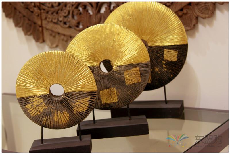 泰国 金箔摆件套装 三件套 0202736图片八