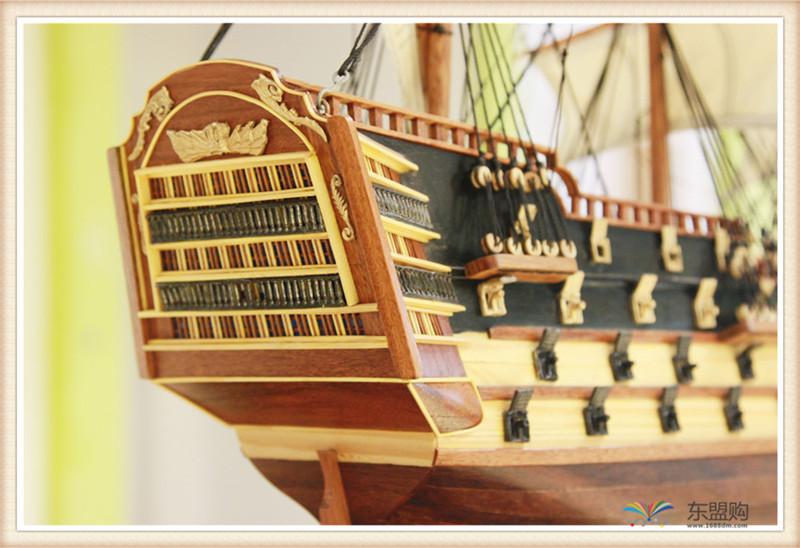 越南 一帆风顺 实木帆船摆件  0206021图片二